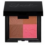 Бронзирующая пудра 4 в 1 Sleek MakeUp Bronze Block Dark: фото