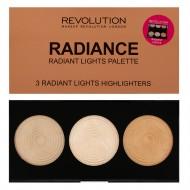 Палетка хайлайтеров Makeup Revolution Highlighter Palette Radiance: фото