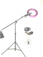 Кольцевая лампа Stellar LED Diva Ring light + Boom Stand (Silver): фото