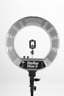 Кольцевая лампа Stellar LED Diva Ring Light II (Silver): фото