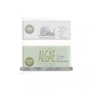 Суперальгинатная маска PREMIUM Secret algae увлажняющая с секретом улитки 17г+50мл: фото