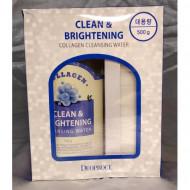 Очищающая вода с коллагеном DEOPROCE CLEAN & BRIGHTENING COLLAGEN CLEANSING WATER 500гр: фото
