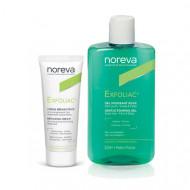 Набор для проблемной кожи NOREVA EXFOLIAC: Мягкий очищающий гель 250мл + Восстанавливающий крем 40мл: фото